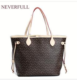 2018 preço de atacado vender pu mulheres de couro da marca de moda NEVERFULL MM / GM ombro saco de compras ao ar livre saco de