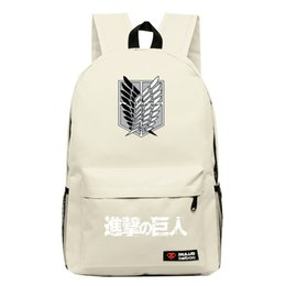 c4dabd77bafd 2017new Attack on Titan Cosplay Anime Backpack Candy Color Leisure Backpacks  for teenagers mochila Unisex for Teenage Girls boys