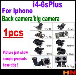 Wholesale Iphone 5s Cable Oem - 1pcs OEM Back Camera Rear Main Lens Repair Flex Cable Replacement For iphone 4 4s 5 5s 5c SE 6 6s plus Parts