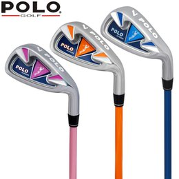 Wholesale Girls Grips - POLO Authentic Children Golf The 7th Iron Club Kid Boy Private Cartoon Shaft Grip Green Junior Girl Golf Beginners Practice Club