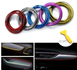 Wholesale decal car trd - Auto Car Styling Brand Stickers And Decals DIY Decorative Thread Decoration Strip On Case For Toyota TRD Car-Styling