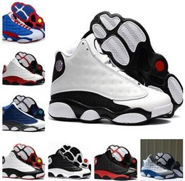Wholesale america mid - 2018 high quality New 13 Love & Respect Man basketball shoes Black white 3M Captain America 13s Mens sport Trainer Sneaker US 8-13