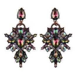Новые серьги драгоценного камня онлайн-индийский ювелирные изделия новый красочный цветок новый дизайн роскошный кулон Кристалл серьги стержня Gem заявление серьги ювелирные изделия