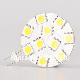 Wholesale G4 Led 24v - 10 SMD 5050 G4 Led 505012V 24V G4 LED BOAT LIGHT CAR LIGHT MARTINE