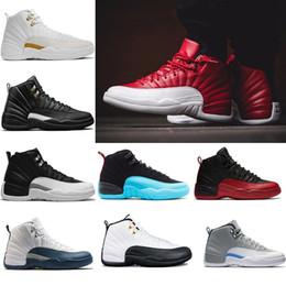 low priced c1abb 6bc91 Nike air jordan 12 12s scarpe da uomo 12 Scarpe da basket di alta qualità  per uomo, giochi di taxi Gamma Blue nero 12 scarpe sportive Scarpe da  ginnastica ...