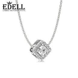 EDELL Book Di 100% en Argent Sterling Géométrique Radiance Collier Pendentif ajustement charme original Collier Femmes bijoux Un Ensemble ? partir de fabricateur