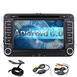 Argentina Android 6.0 Car Stereo Quad Core Double Din 7 '' Reproductor de DVD del coche de la pantalla táctil para VW In Dash Bluetooth GPS Navigation WiFi Suministro
