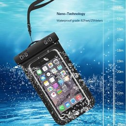 Wholesale Compass Water - Dry Bag Waterproof bag PVC Protective Mobile Phone Bag Pouch With Compass Bags For Diving Swimming Sports For iphone 6 6 plus S7 NOTE 7 fact