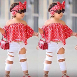 ropa de hip hop para niños al por mayor Rebajas Niñas bebés Conjunto Ropa Niños Moda Top Pantalón Traje de Verano de Dos Piezas Niños Niñas Trajes Boutique BB430
