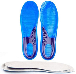 Wholesale Orthopedic Silicone Insole - Silicone Gel Insoles Man Women Insoles Orthopedic Massaging Shoe Inserts Shock Absorption Shoe pad High Quality