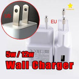 Wholesale Usb 5v Power - Original Quality A+++ USB Power Adapter Wall Charger 5V 1A US EU UK Plug for all Mobile Phone with Retail Package
