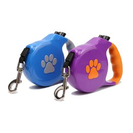 Wholesale Leash Walking Training - 5m Retractable Dog Leash Lead One-handed Lock Training Pet Lead Puppy Walking Nylon Retractable Leashes Adjustable for Dogs