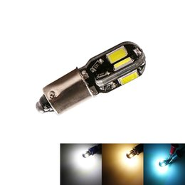 BA9S T4W BAX9S H6w огни 5730 8 SMD LED автомобилей стороне чайник лампы лампы постоянного тока 12 В теплый белый лед синий белый cheap dc makers от Поставщики dc производители