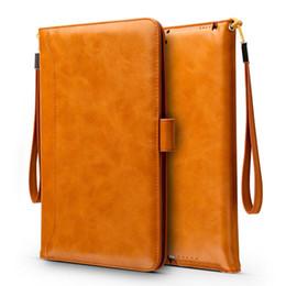 Ledertasche für mini-pad online-Für Pad Pro 9.7 10.5 Air 2 4 Mini Luxury Leather Flip Schutzhülle mit Halterung Kartenhalter Flip Cases PCC064