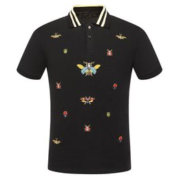 Wholesale Stocking Groups - Summer New Pattern Lapel Short Sleeve Male Leisure Time Bees Pattern Goods In Stock High Archives Directly Group Recruit Agent