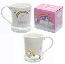Caneca do copo de café 3d on-line-Copos unicórnio 3D Cavalo Kawaii Canecas De Cerâmica Copo Garrafas De Água Canecas De Café Canecas De Leite Xícaras De Chá OOA3957