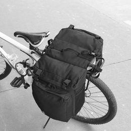 2019 portador trasero SAHOO 15L MTB Bicicleta Carrier Bag Rear Rack Bike Maletero Equipaje Alforja Asiento Trasero Doble Lateral Ciclismo Bycicle portador trasero baratos