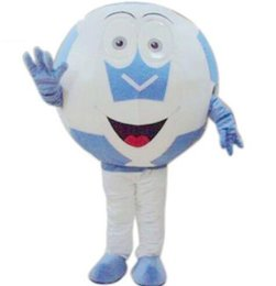 Wholesale deluxe mascot - New Adult Cute BRAND Cartoon Football Soccer Deluxe Club Mascot Costume Fancy Dress Hot Sale Party costume Free Ship