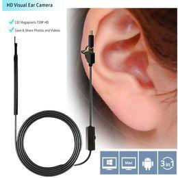2019 usb endoscope hd Herramienta de limpieza de orejas USB Limpieza de oídos Endoscopio HD Cuchara de oreja visual Multifuncional Earpick Con Mini Cámara Pluma Cámara