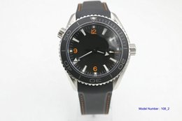 Wholesale Master Chronograph - luxury brand high quality man Sea watch rubber co-axial black number dial Master quartz watch