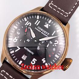 Corgeut 42MM Boîtier en cuivre cadran noir Montre Power Kinetic Montre automatique pour homme avec date ? partir de fabricateur