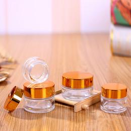 glas kosmetik glasdeckel Rabatt Kosmetische Cremeflasche aus klarem Glas mit runden Gläsern und PP-Innenbeschichtung für die Handcremeflasche 5 g bis 100 g Gold Silberdeckel