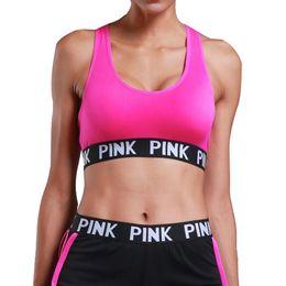46ab5abd9a PINK Energy Seamless Bra Padded Push Up Sports Bra High Impact Brassiere  Sport Woman Fitness Gym Yoga Sport Top Esportivo Bh