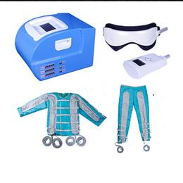 detox dell'aria Sconti 24 Air Bags Air Pressure Pressoterapia macchina pressoterapia massaggio linfatico corpo detox corpo wrps lontano infrarossi ems stimolazione muscolare