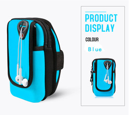 Wholesale rugby phone case - NEW 6 inch Armband Bag Case Cover Running armband Universal mobile phone Holder Outdoor Sport Phone Arm Belt Bag BL049 Free shipping