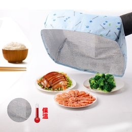 Wholesale dishes decor - 3 Styles S L Size Foldable Insulated Food Cover With Foil Dish Keep Cold Hot Home Decor Household Gadgets Kitchen Accessorie