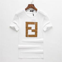 cbf0fc0699530 Diseñador para hombre camisetas de verano de manga corta blanco negro letra  f moda casual o cuello blusa marca tops buena calidad