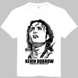 Wholesale Quiet Men - Kevin dubrow t shirt Quiet Riot short sleeve gown Rock star tees Leisure printing clothing Quality cotton Tshirt