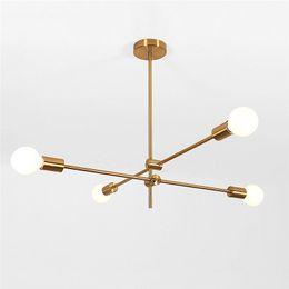 Pendente di lustro online-Lampade a sospensione Modern Branch E27 2 // 4/6 teste LED italiano Lampada a sospensione a sospensione per sala da pranzo Cucina Lustre Lighting E0100