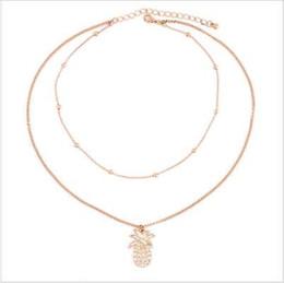 Canada RscvonM Nouvelle mode multi couche ananas collier ensemble Simple or perle double chai collier pour les femmes livraison gratuite cheap simple bead necklaces Offre