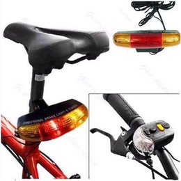 Wholesale Wholesale Sports Horns - 7 LED Bicycle Bike Turn Signal Directional Brake Light Lamp 8 sound Horn Outdoor Sports Bike Light Cycling Accessories Aug 17