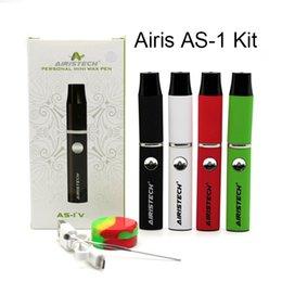 Wholesale Port Green - Authentic AIRISTECH AS-1 kit E Cigarette Kits Wax Pen Wax Vaporizer Pen Micro USB Charging Port Airis Viva Kit