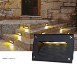 Wholesale Outdoor Led Step Lights - led stair light 3W underground lamps IP67 deck step paitio recessed inground lights floor garden landscape wall outdoor lighting