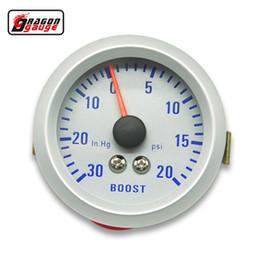 Medidores de pressão de vácuo on-line-Medidor de dragão 52mm Turbo Boost Gauge 20 ~ 30 PSI pressão 0-30 INHG MEDIDOR de VÁCUO metro Colorido luminoso TURBO Mete