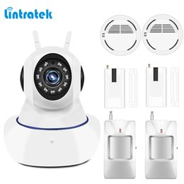 Wholesale Home Security System Door Sensor - lintratek Home Alarm Systems Security Protection 433mhz IP wifi Surveillance Camera Wireless Door, Motion, Smoke Sensor Detector