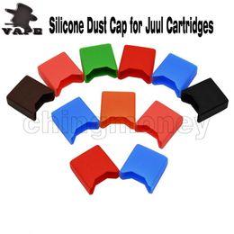 Hautkappenverschiffen online-Neue silikon staubkappe fällen gummi schutzhülle haut sanitär flach staubdicht hülse für juul patronen hülsen kostenloser versand