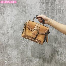 8634541e1fe03 2019 wildleder-nietbeutel Susinan Damen PU Umhängetaschen Wildleder  Handtaschen für Frauen 2018 Vintage Nieten Frauen