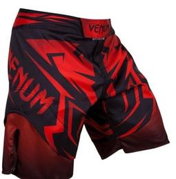 Wholesale blue mma - MMA Shorts Grappling Kick UFC Boxing Men Short Muay Thai Gym Fight Gear