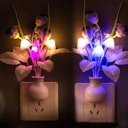 iluminación de la fábrica de la vendimia Rebajas Flores Seta Dormitorio Decoración Luz Sensación LED Noche Luz Cama Lámpara Lámpara Noche JDH99