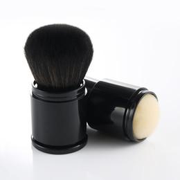Wholesale Retractable Blusher Brush - 1pcs Big Powder Black Retractable Makeup Brushes Foundation Blusher Concealer Cream Kabuki Brush Cosmetic Beauty Tools