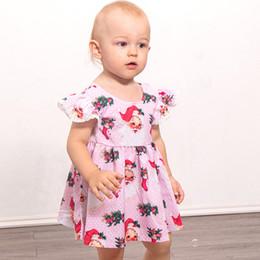 vestito di natale rosa del bambino Sconti Nuovi puntini dentellare di  Natale Vestiti dalla neonata del 531fe40608ab