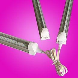 Wholesale flash doors - Best quality V-Shaped 4ft 5ft 6ft 8ft Cooler Door Led Tubes T8 Integrated Led Tubes SMD2835 Led flash Lights AC 85-265V