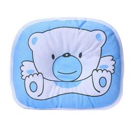 Almohada de cabeza de oso online-Oso Almohada de dibujos animados para bebés recién nacidos Decoración de la habitación del bebé Apoyo para dormir Prevenga la almohada de cabeza plana Almohadas de protección para la cabeza del bebé