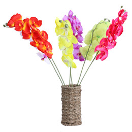 Fai da te fiore decorativo fiore di orchidea falena artificiale matrimonio e decorazione domestica ghirlande di fiori decorativi E5M1 da