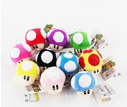 Wholesale Yoshi Keychain - 6CM Super Mario Bros Luigi Yoshi Toad Mushroom Mushrooms plush Keychain Anime Action Figures Toys for kids brithday gifts