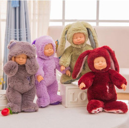 Wholesale Fantasy Statues - 40cm Kawaii Sleeping Baby Dolls & Stuffed Pvc Kids Plush Toys for Girls Boys Christmas Gift Bebe Doll Reborn Baby Toys